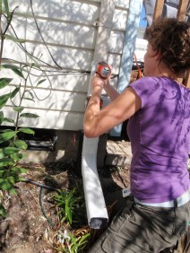 Downspout disconnection at safe properties reduces stormwater runoff