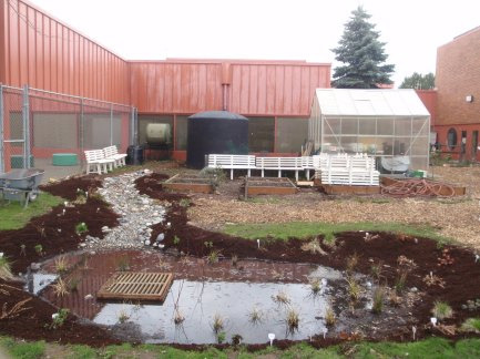 Fall 2009 - Phase II is complete and soaking in it's first rain.