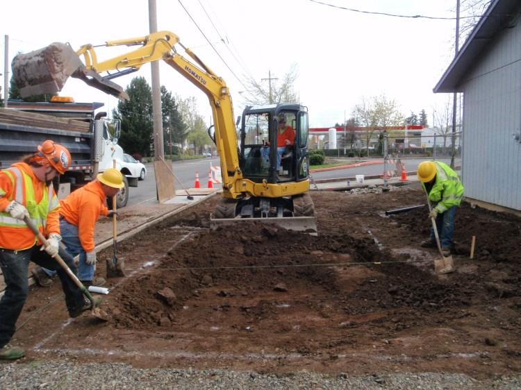Excavating garden, spring 2011.