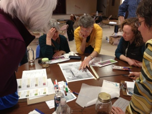 Participants learn site planning and design at the introductory workshop (photo Jamie Stamberger)