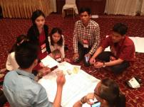 multi-national teams working on project idea